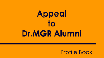 Appeal to Dr.MGR Alumni