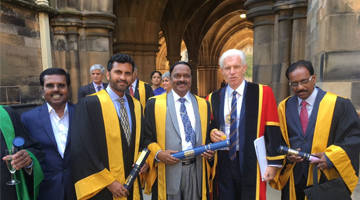 Founder chancellor  conferred with FRCP fellowship