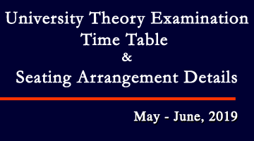 University Theory Examination Time Table and Seating Arrangement Details