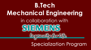 B.Tech -Mechanical Engineering –in collaboration with SIEMENS