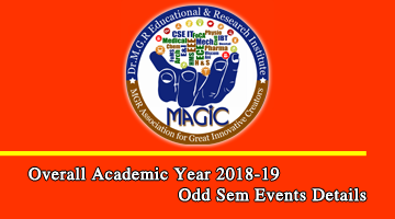 Academic Year 2018-19 Odd Sem Events Details