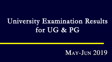May-Jun 2019 University Examination Results
