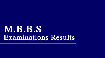 MBBS Examinations Results